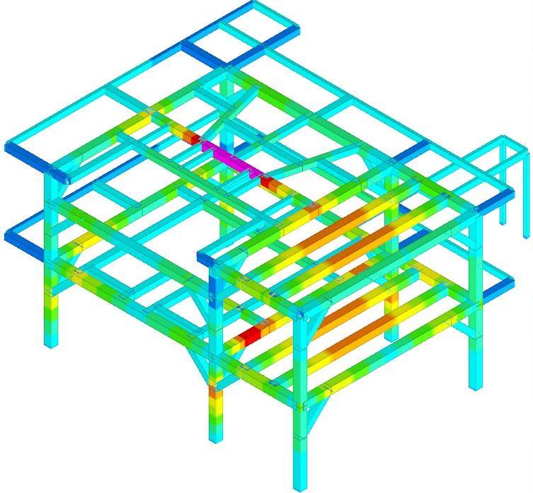 progetto Bim strutture in metallo vista